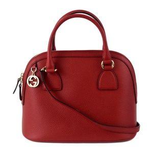 Gucci Red Dome Handbag